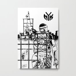 Knicks Liberty Metal Print