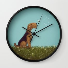 Let's Bee Friends Wall Clock