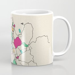 Colorful City Maps: Auckland, New Zealand Coffee Mug