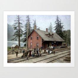 CPR Station, Hope, BC c.1895 Art Print