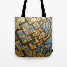 Gold cubic Eiffel tower close up Tote Bag