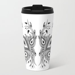 Peacock – Grey Palette Travel Mug