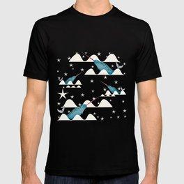 Sea unicorn - Narwhal blue T-shirt