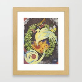 Unfolding Wisdom Framed Art Print