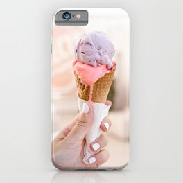 Santorini 0004: Pastel icecream, Santorini, Greece iPhone Case