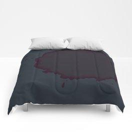 Splat on Blue - by Friztin Comforters