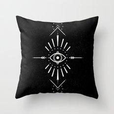 Evil Eye Monochrome Throw Pillow