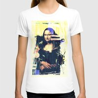 mona lisa T-shirts featuring mona lisa by manish mansinh