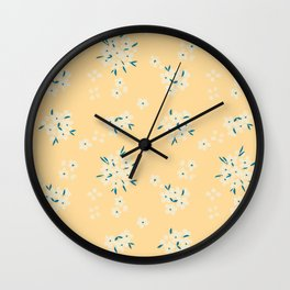 Sunshine Bouquets Wall Clock