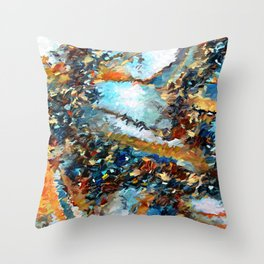 Agate Geode Abstract Throw Pillow