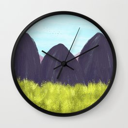 Spring Landscape Wall Clock