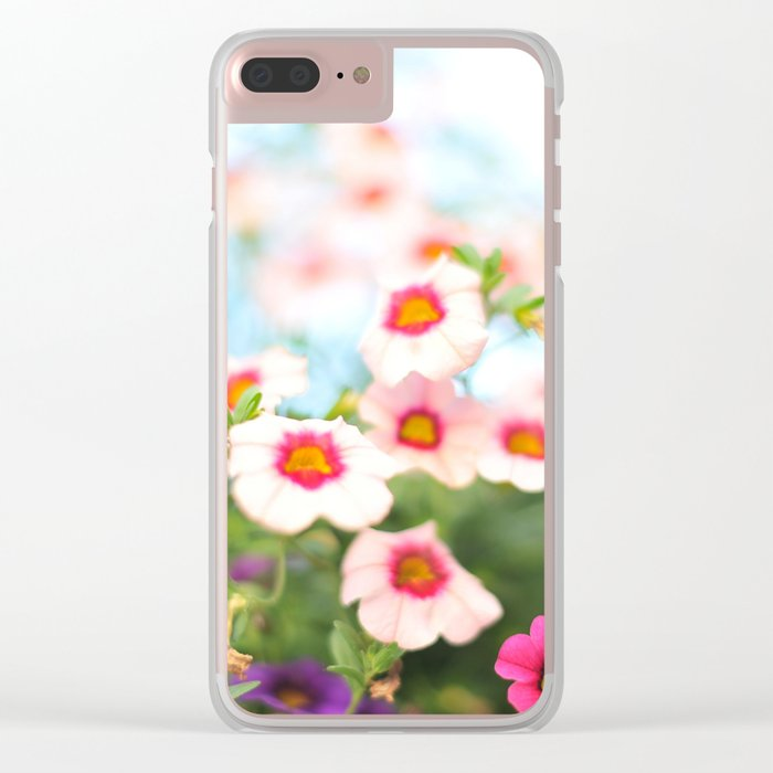 Summer flower vibes #1 #decor #art #society6 Clear iPhone Case