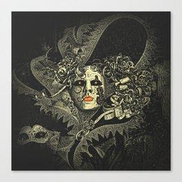 Halloween, baroque Venetian spooky mask Canvas Print