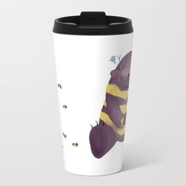 Cherry brown bear imitating a bee Travel Mug