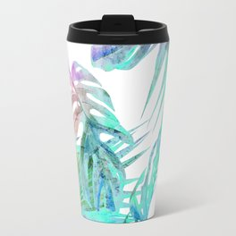Simply Palm Leaves in Hologram Island Travel Mug