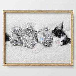 Kitten and teddy Serving Tray