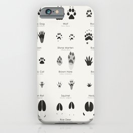 Infographic Guide for Animal Tracks (Hidden Tracks) iPhone Case