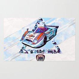 """Lancia LC2 """"Lancia-Ferrari""""// Le Mans Race Cars Rug"""
