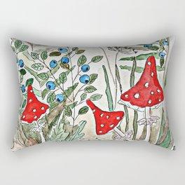 Watercolor. Forest. Amanita. Rectangular Pillow