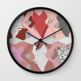 My Thighs Rub Together & I'm OK With That - Positive Female Body Image Digital Illustration Wall Clock