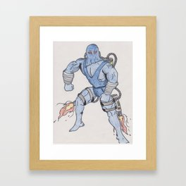 Comic Bad guy Framed Art Print