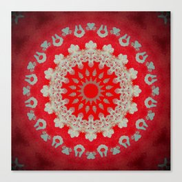 Bright Red Mandala Canvas Print