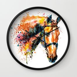 Colorful Horse Head Wall Clock