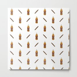 40's & Blunts Pattern Metal Print
