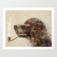 labrador Art Prints featuring hello labrador by bri.buckley