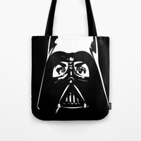 darth Tote Bags featuring Darth  by shazii