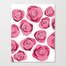 Roses are pink Canvas Print