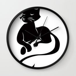 Silhouette Sits Wall Clock