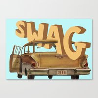 swag Canvas Prints featuring swag  by professional doodler