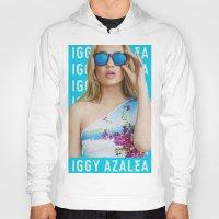 iggy azalea Hoodies featuring Iggy Azalea Blue by Illuminany