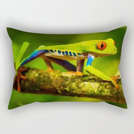 red-eyed tree frog   Watercolor Painting Rectangular Pillow