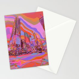 Chicago Downtown Michigan Avenue Comic Art Stationery Cards