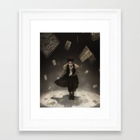 tarot Framed Art Prints featuring Tarot Theater by tony dimauro
