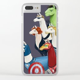 Avenger llamas Clear iPhone Case