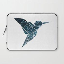 Geometric Hummingbird, Blue Hummingbird Art Laptop Sleeve