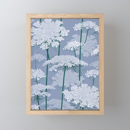 Queen Anne's Lace | Country Blue Framed Mini Art Print