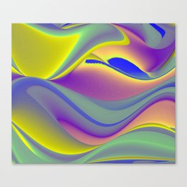 Abstract Rainbowart in retrostyle 9 Canvas Print