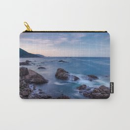Rocky Shore - Waves Crash on Rocks Along Coast at Big Sur Carry-All Pouch