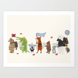 lets all go exploring Art Print