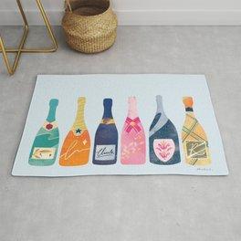 Champagne Bottles - Blue Ver. Rug