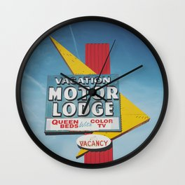 Vacation Neon Wall Clock