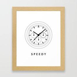Omega Speedmaster (Speedy) Framed Art Print