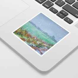 Snowing Sticker
