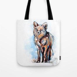 Snowy Fox Tote Bag