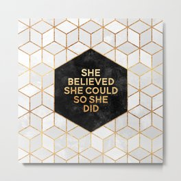 She believed she could so she did 2 Metal Print