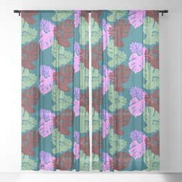 Plant Parent Sheer Curtain
